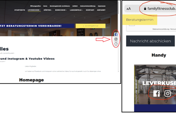 Online Videos Handy + Homepage